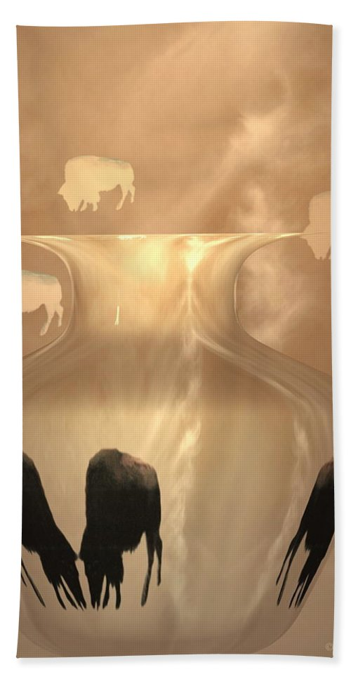 Bison Beach Towel featuring the photograph Bison by Joyce Dickens