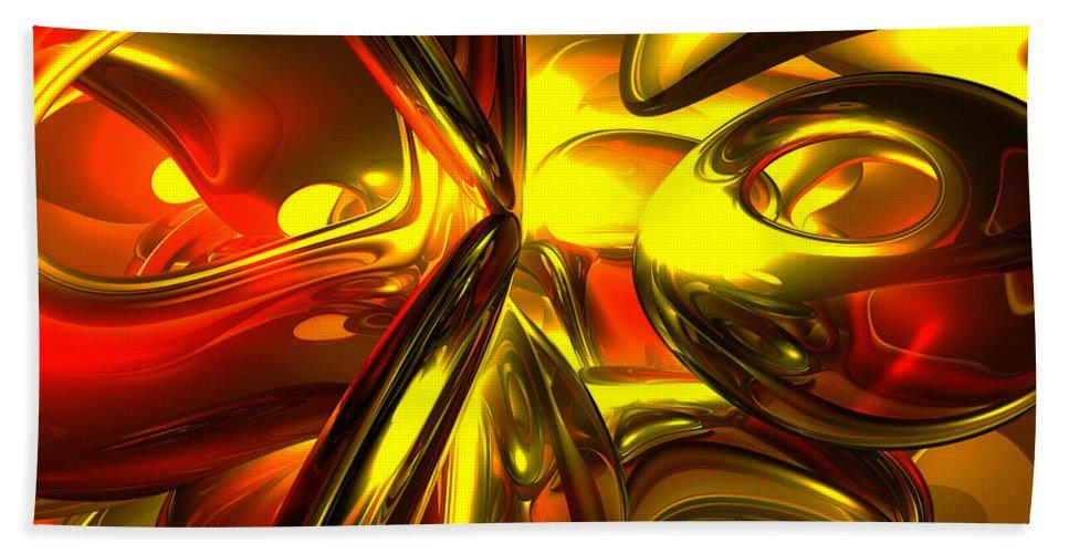 3d Beach Towel featuring the digital art Bittersweet Abstract by Alexander Butler