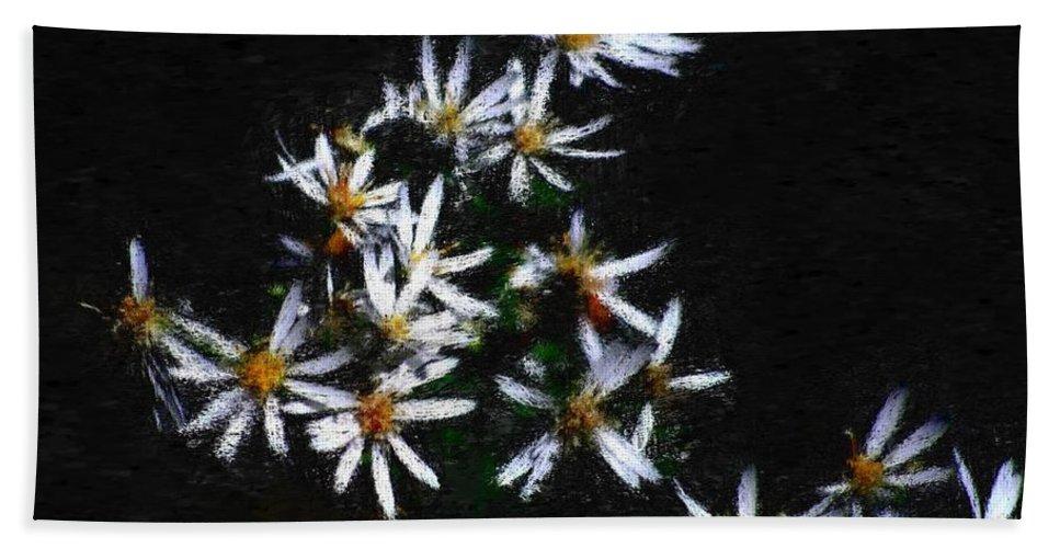 Digital Photograph Beach Towel featuring the digital art Black And White Study II by David Lane