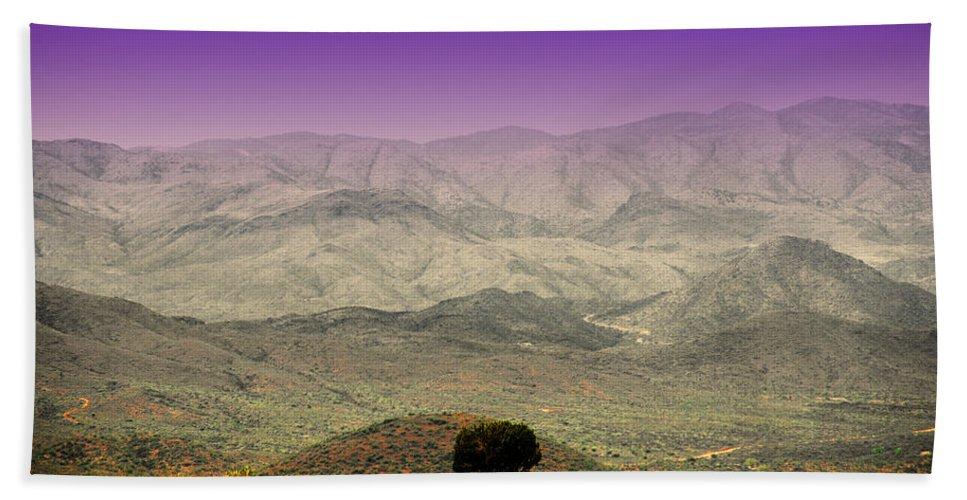 Black Mountains Beach Towel featuring the photograph Black Mountains Az by Susanne Van Hulst