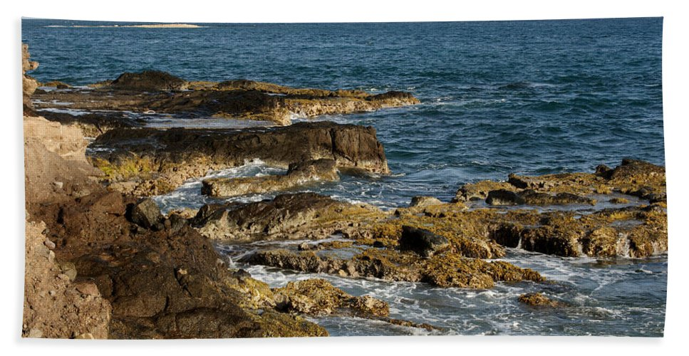 Sailboat Beach Towel featuring the photograph Black Rock Point And Sailboat by Jean Macaluso