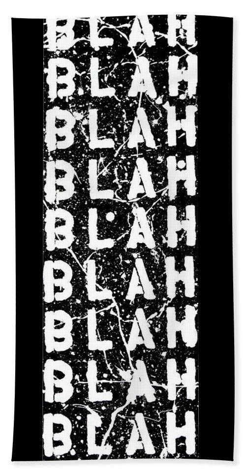 Blah Blah Blah Beach Sheet featuring the painting Blah Blah Blah by Ducksy