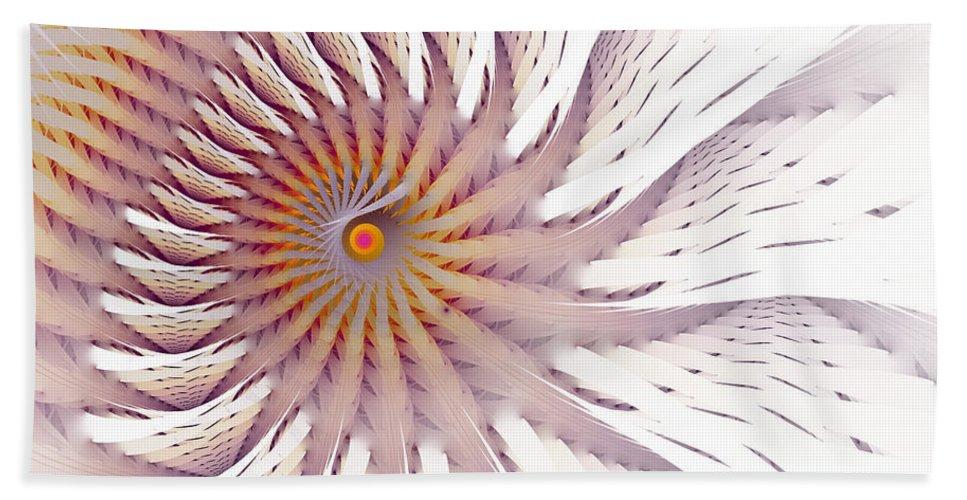 Fractal Beach Towel featuring the digital art Blazing Forest by Amorina Ashton