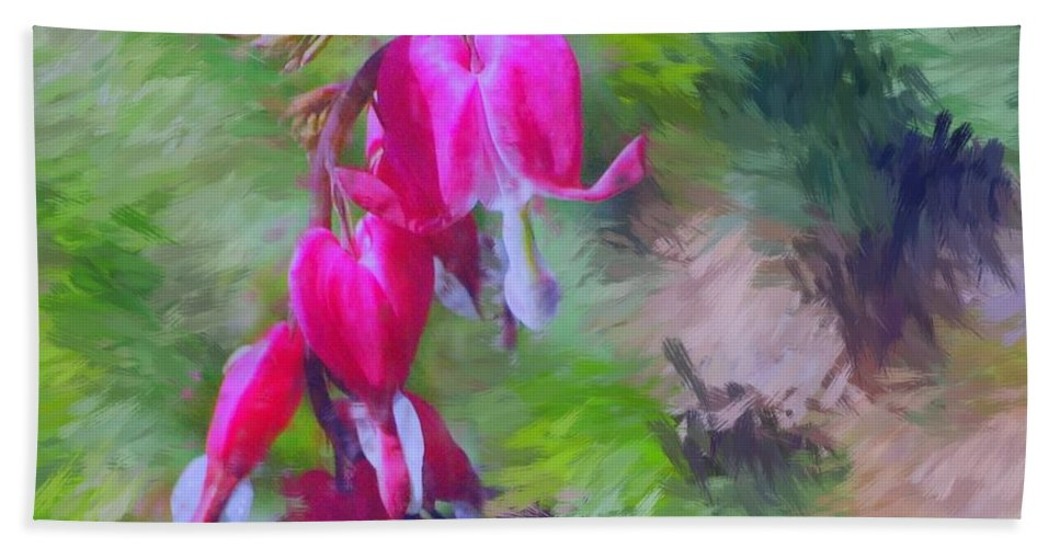 Daffodil Beach Towel featuring the photograph Bleeding Heart by David Lane