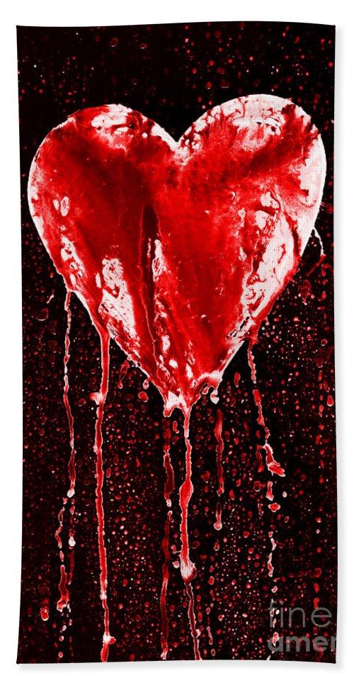 Bleeding Beach Towel featuring the photograph Bleeding Heart by Michal Boubin