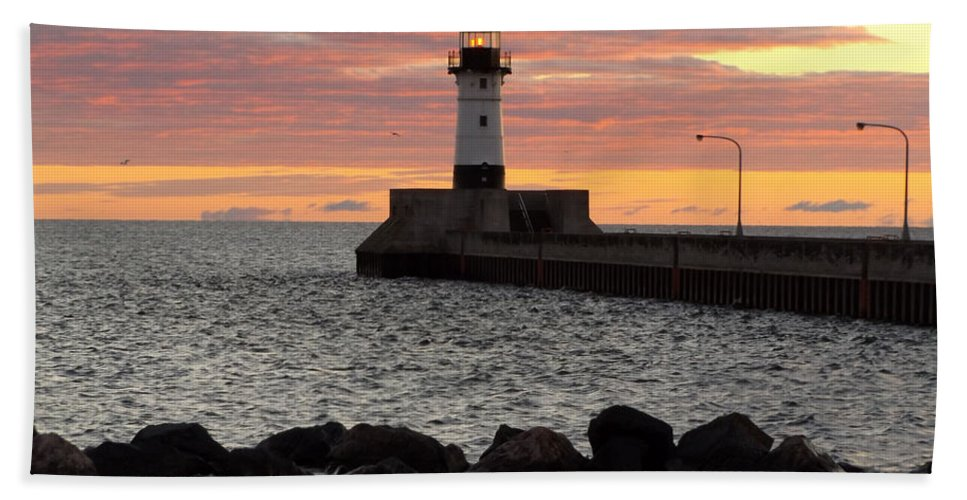 Lake Superior Beach Towel featuring the photograph Blessings by Alison Gimpel