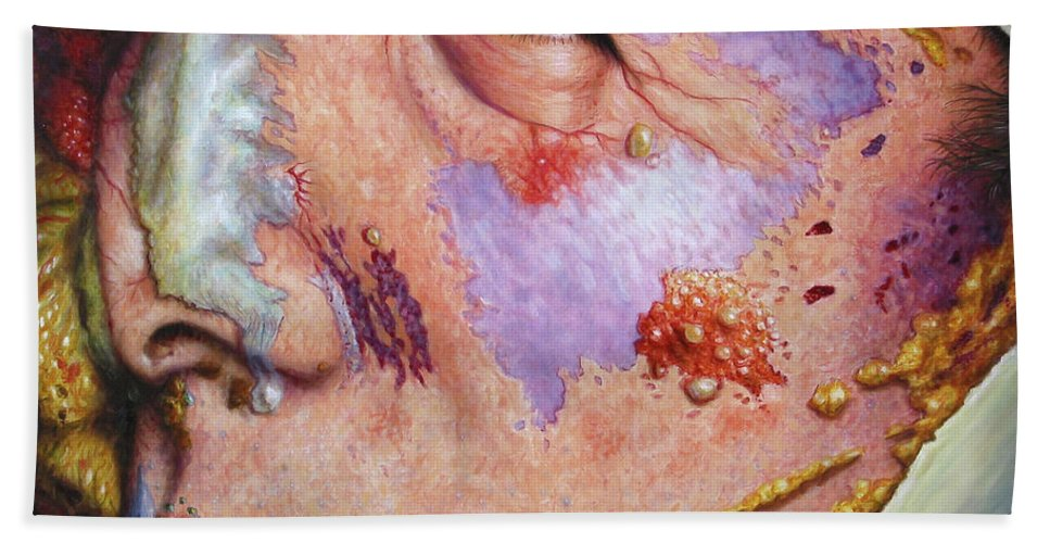 Gross Beach Towel featuring the painting Blindsided by James W Johnson