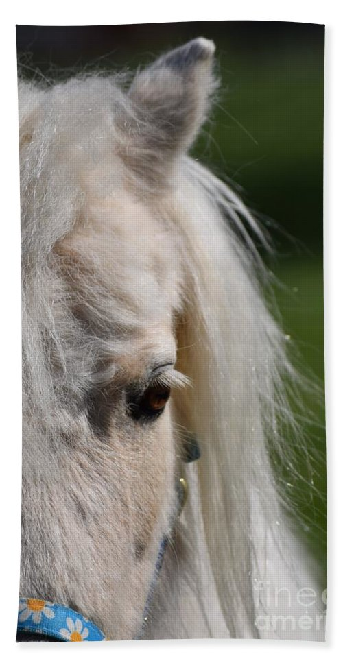 Pony Beach Towel featuring the photograph Blondie by LKB Art and Photography