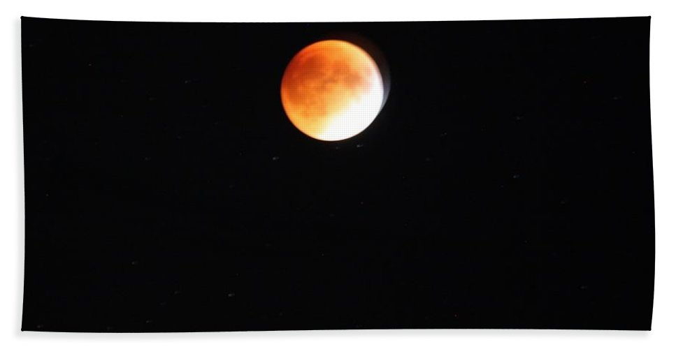 Blood Moon Beach Towel featuring the photograph Blood Moon by Carol J