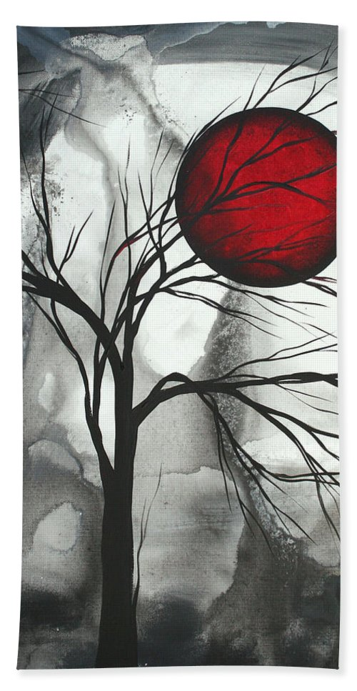 Huge Beach Towel featuring the painting Blood of the Moon 2 by MADART by Megan Duncanson
