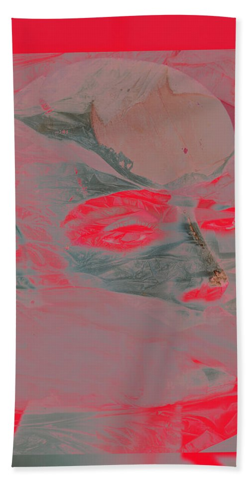 Abstract Beach Towel featuring the photograph Bloods Friend by The Artist Project