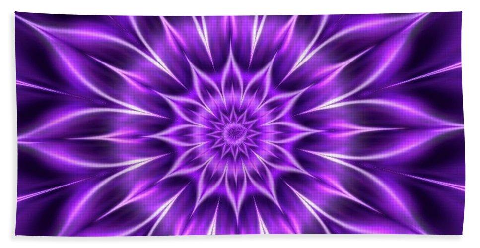 Purple Beach Towel featuring the digital art Bloomingcrown by Joan Flaherty