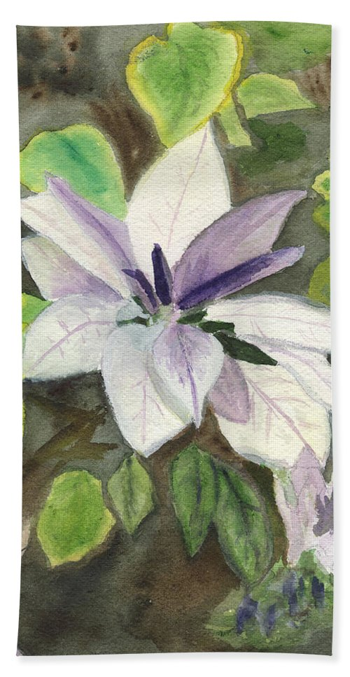 Blossom Beach Towel featuring the painting Blossom At Sundy House by Donna Walsh