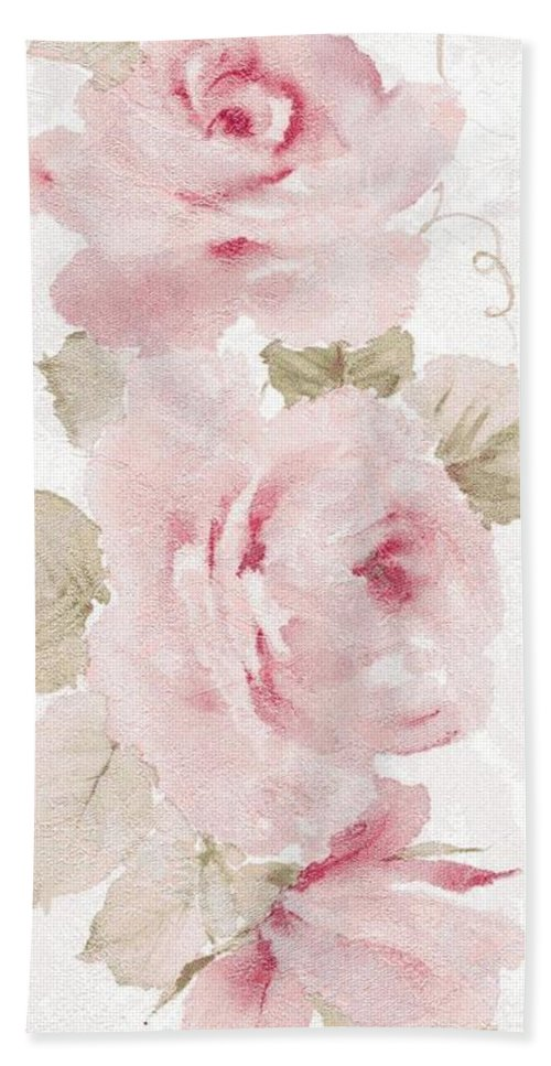 Writermore Beach Towel featuring the mixed media Blossom Series No.5 by Writermore Arts