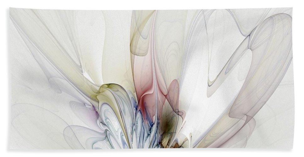 Digital Art Beach Towel featuring the digital art Blow Away by Amanda Moore