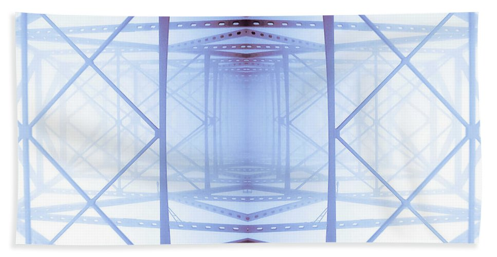 Abstract Beach Towel featuring the photograph Blue Abstract by Keith Allen