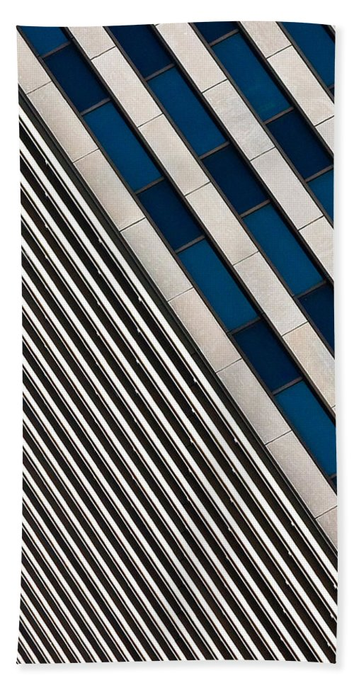 Cincinnati Beach Towel featuring the photograph Blue And White Diagonals by Keith Allen