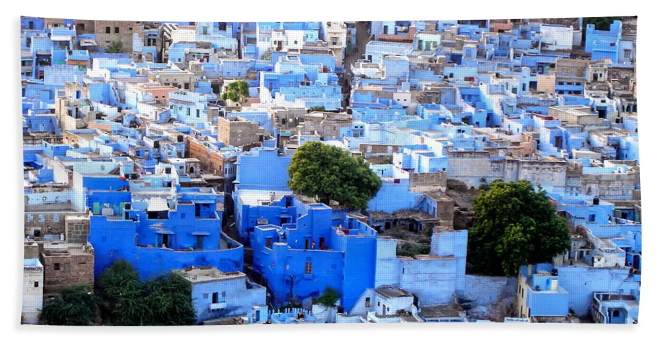 Jodhpur Beach Towel featuring the photograph Blue City by Delphimages Photo Creations