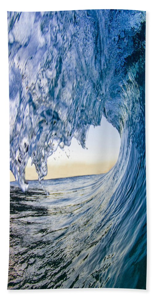 Water Beach Towel featuring the photograph Blue Envelope - Vertical by Sean Davey