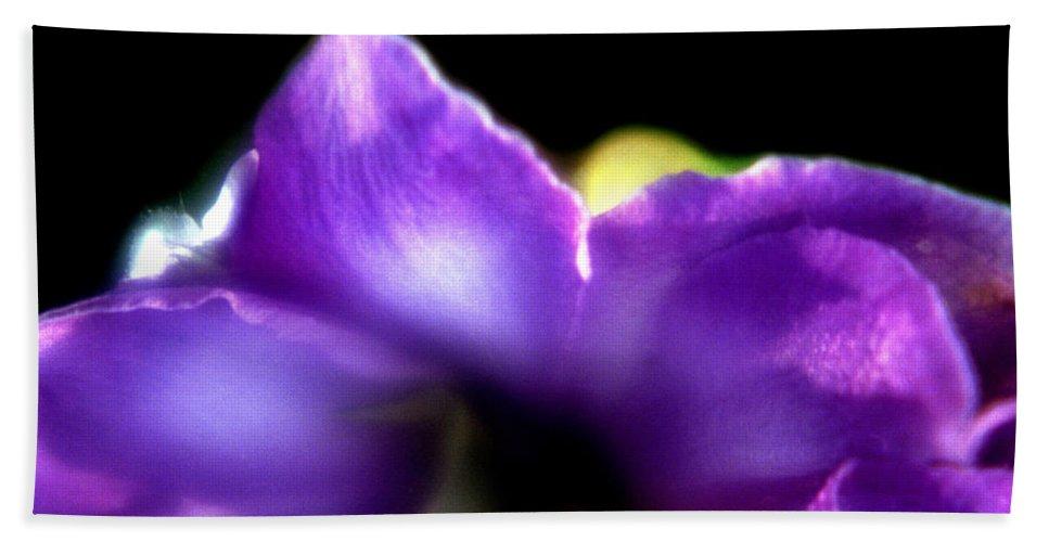 Flower Beach Sheet featuring the photograph Blue Flower by Lee Santa