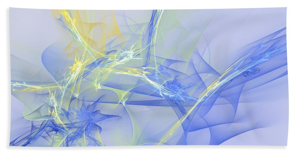 Apophysis Beach Towel featuring the digital art Blue For You by Deborah Benoit