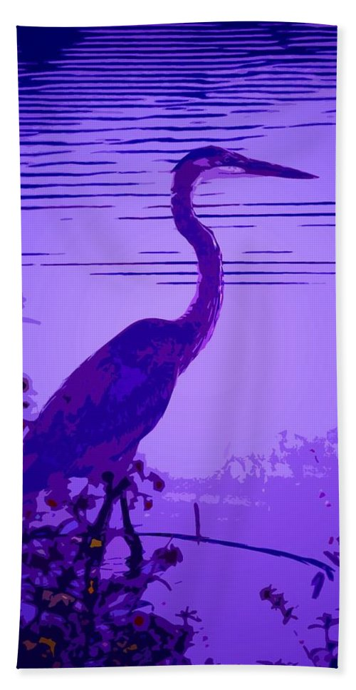 Bright Beach Towel featuring the photograph Blue Heron... by Arthur Miller