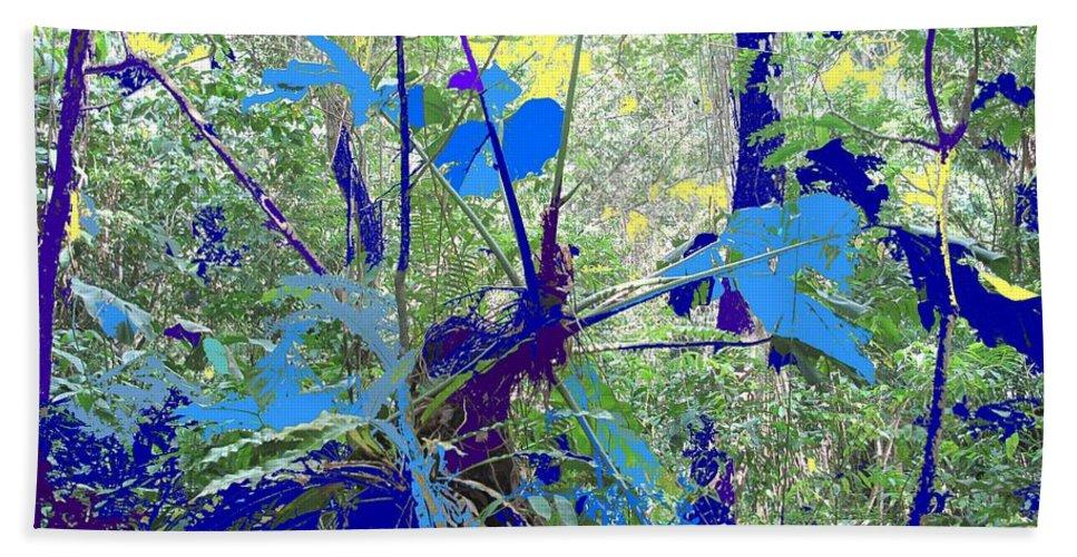 Beach Towel featuring the photograph Blue Jungle by Ian MacDonald
