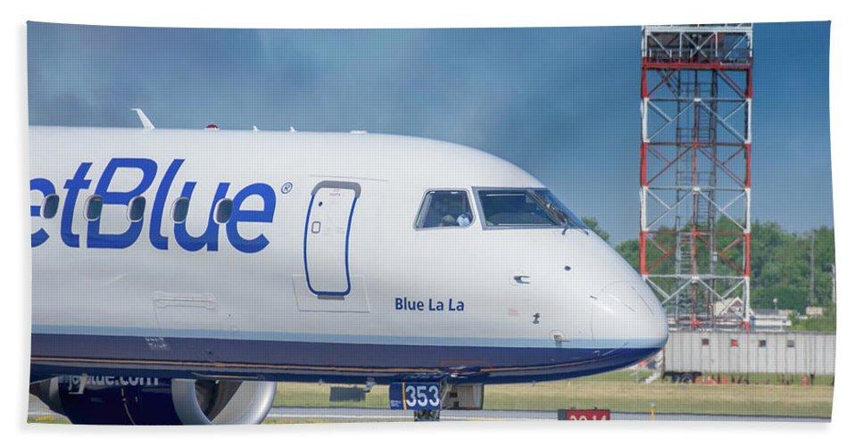 Aviation Beach Towel featuring the photograph Blue La La by Guy Whiteley