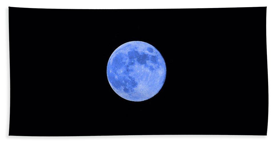 Moon Beach Towel featuring the photograph Blue Moon by Al Powell Photography USA