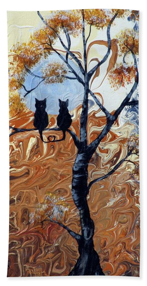 Mystical Beach Towel featuring the painting Blue Moon by Mikki Alhart