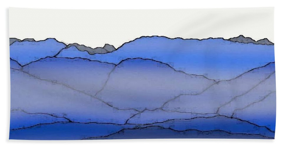 Blue Mountain Fog Beach Towel featuring the painting Blue Mountain Fog by Priscilla Wolfe