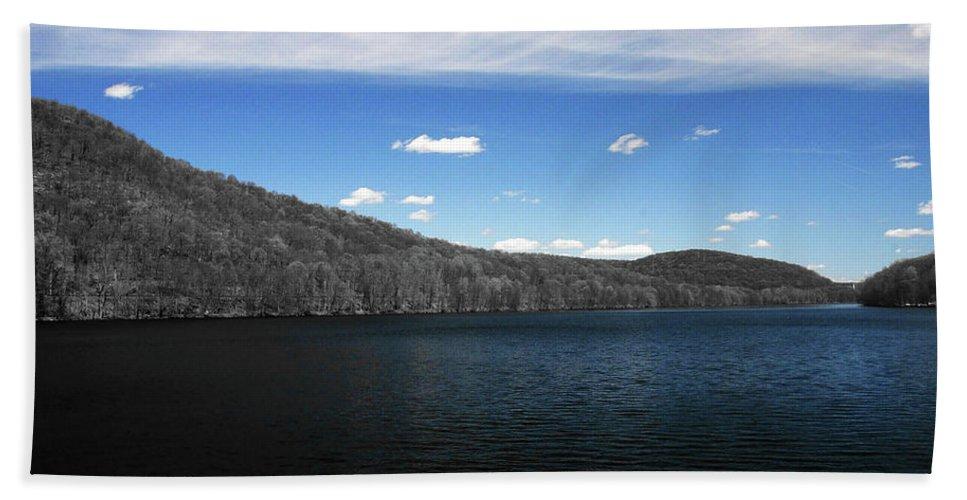 Carmel New York Beach Towel featuring the photograph Blue On Blue by Cj Mainor