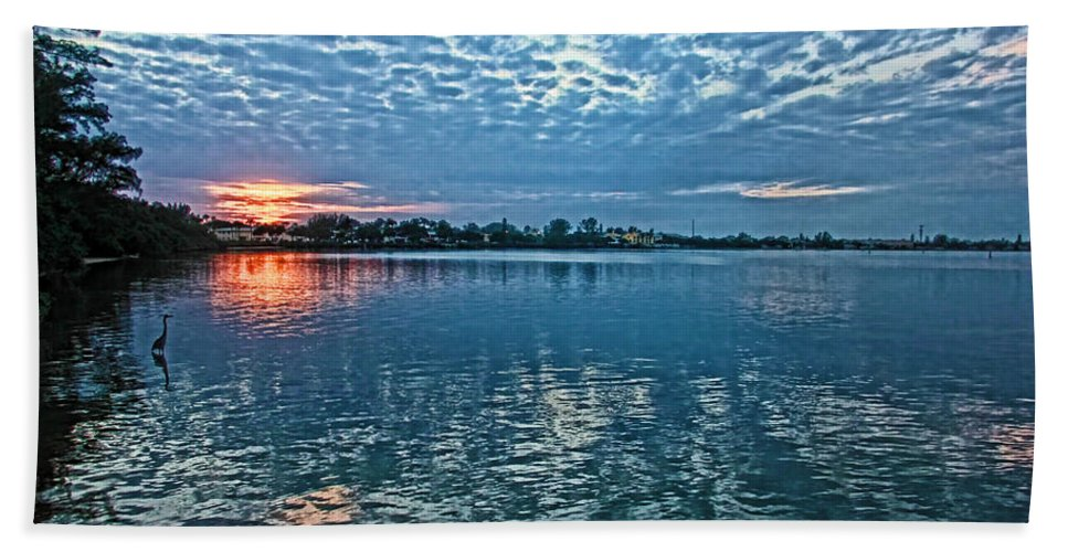 Tropical Sunset Beach Towel featuring the photograph Blue On Blue by HH Photography of Florida