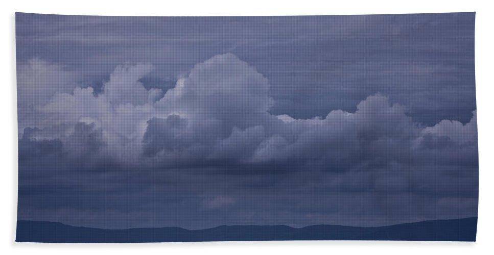 Storm Beach Towel featuring the photograph Blue Ridge Mountain Storm In Virginia by Teresa Mucha