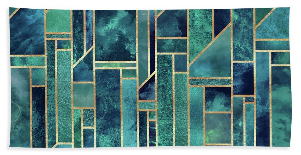 Graphic Beach Towel featuring the digital art Blue Skies by Elisabeth Fredriksson