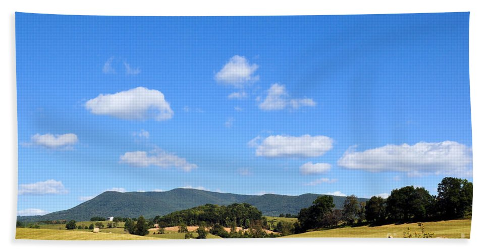 Mountains Beach Towel featuring the photograph Blue Skies by Todd Hostetter