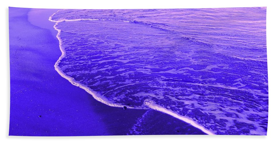 Abstract Beach Towel featuring the digital art Blue Wash by Ian MacDonald