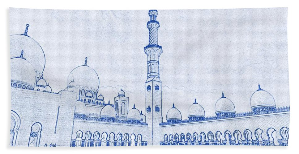 Blueprint drawing of abu dhabi sheikh zayed mosque islamic architectural blueprint font beach sheet featuring the painting blueprint drawing of abu dhabi sheikh zayed mosque malvernweather Gallery