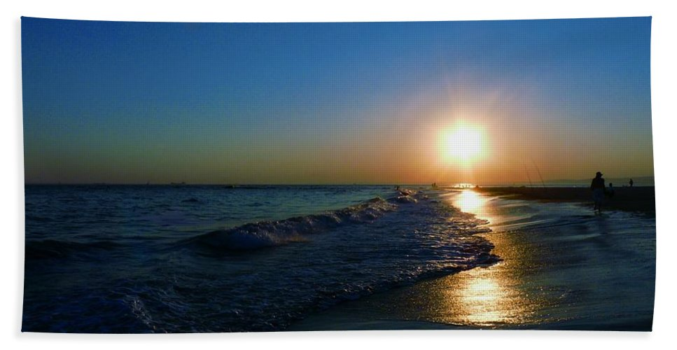 Landscape Beach Towel featuring the photograph Blues In The Evening by Kendall Eutemey