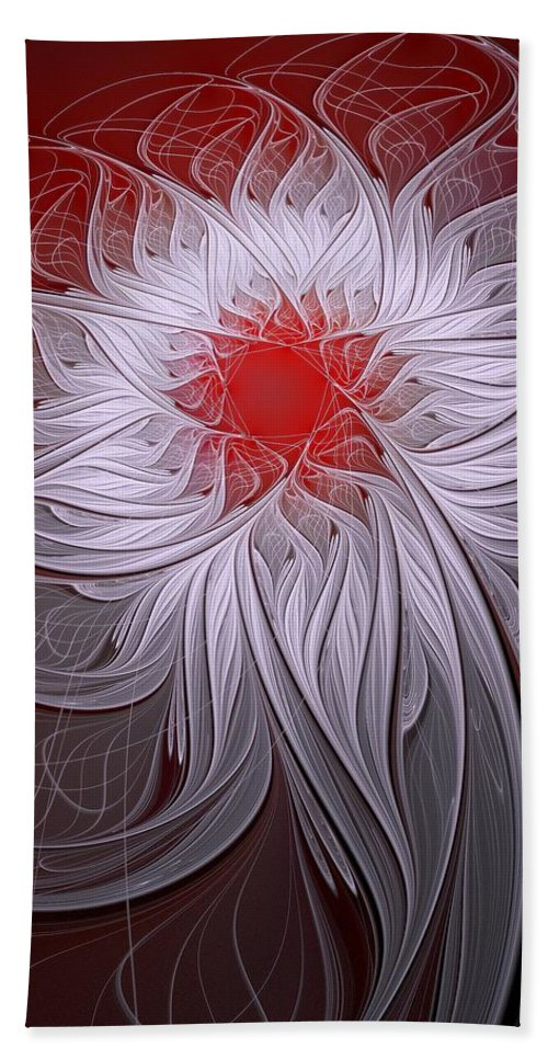 Digital Art Beach Towel featuring the digital art Blush by Amanda Moore