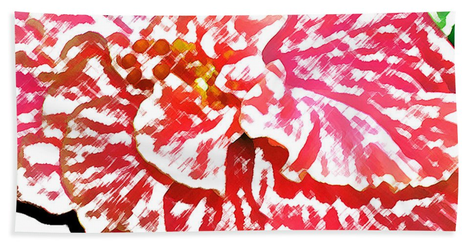 Pink Hibiscus Beach Sheet featuring the digital art Blush by James Temple