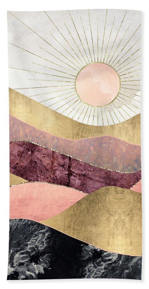 Blush Beach Towel featuring the digital art Blush Sun by Spacefrog Designs