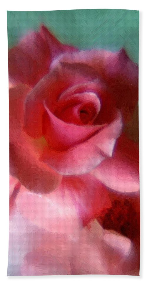 Rose Beach Towel featuring the painting Blushing Maidens by RC DeWinter