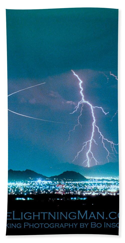 Lightning Beach Towel featuring the photograph Bo Trek The Poster by James BO Insogna