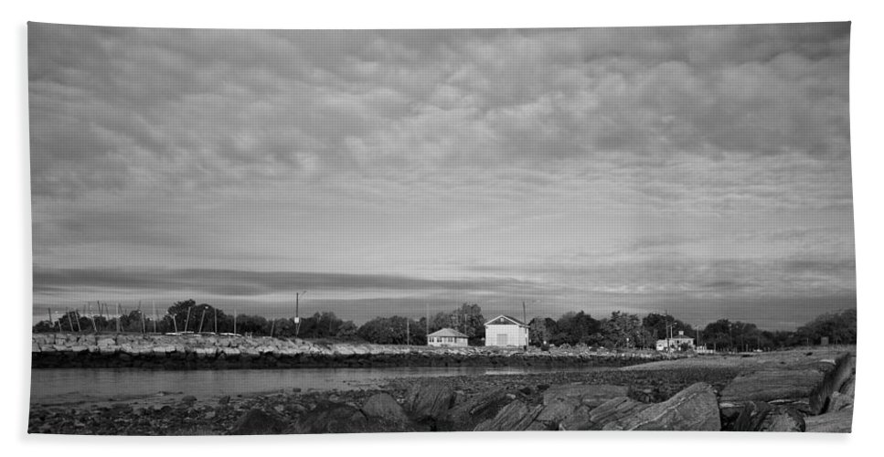 Boat House Beach Towel featuring the photograph Boat Houses by Stephanie McDowell