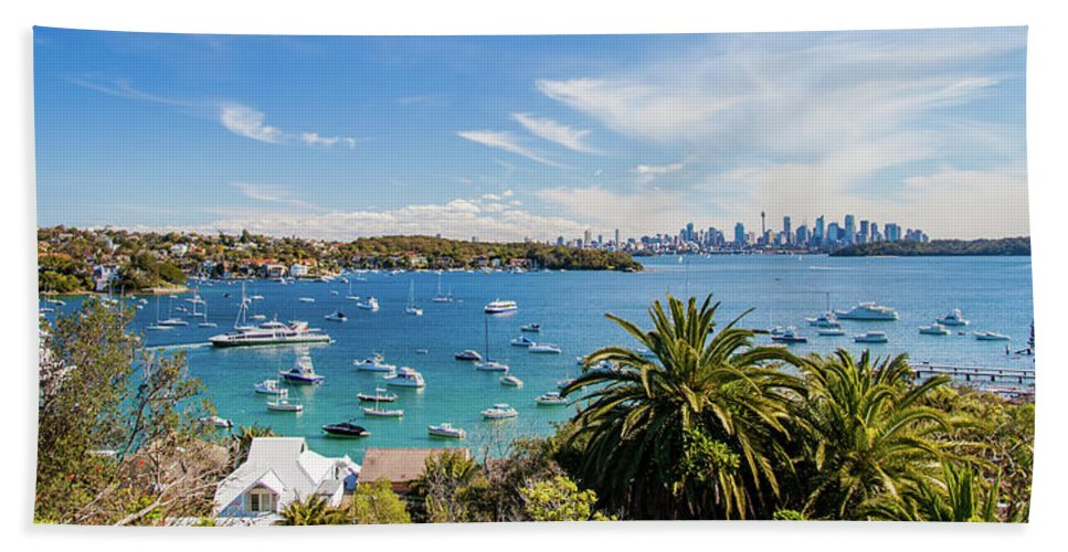 Watson's Bay Beach Towel featuring the photograph Boat Life by Az Jackson