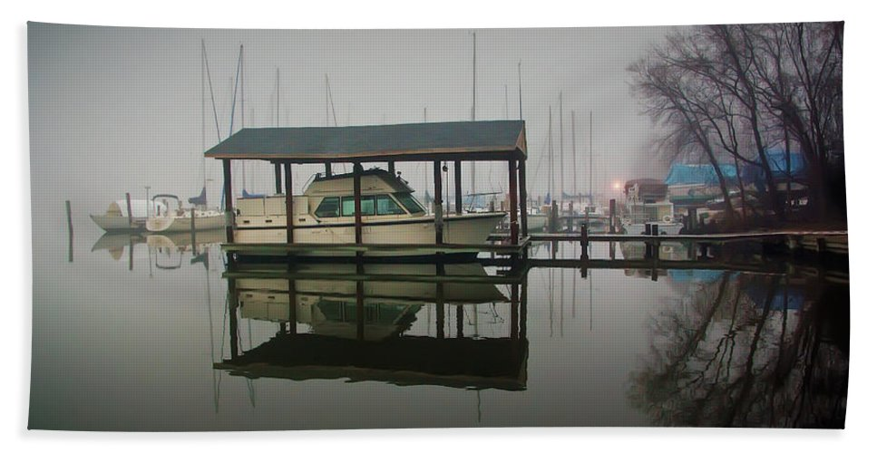 2d Beach Towel featuring the photograph Boathouse by Brian Wallace