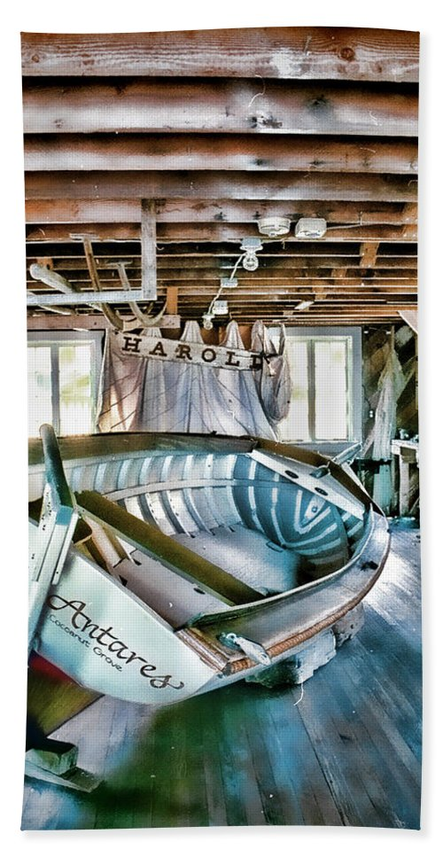 Boathouse Beach Towel featuring the photograph Boathouse by Heather Applegate