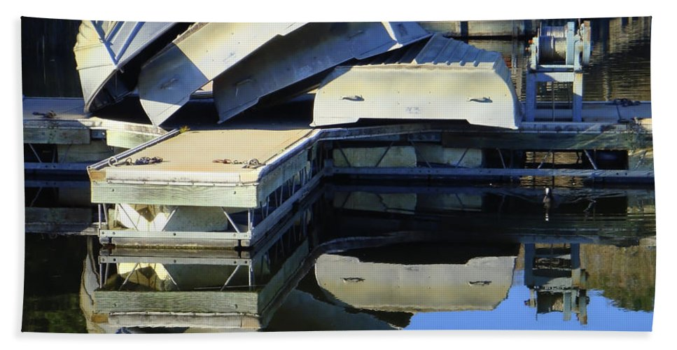 Water Beach Towel featuring the photograph Boating Incident by Donna Blackhall