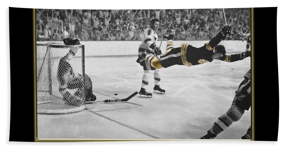Hockey Beach Towel featuring the photograph Bobby Orr 6 by Andrew Fare